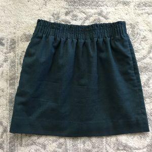 J. Crew Jade Green Sidewalk Skirt 8